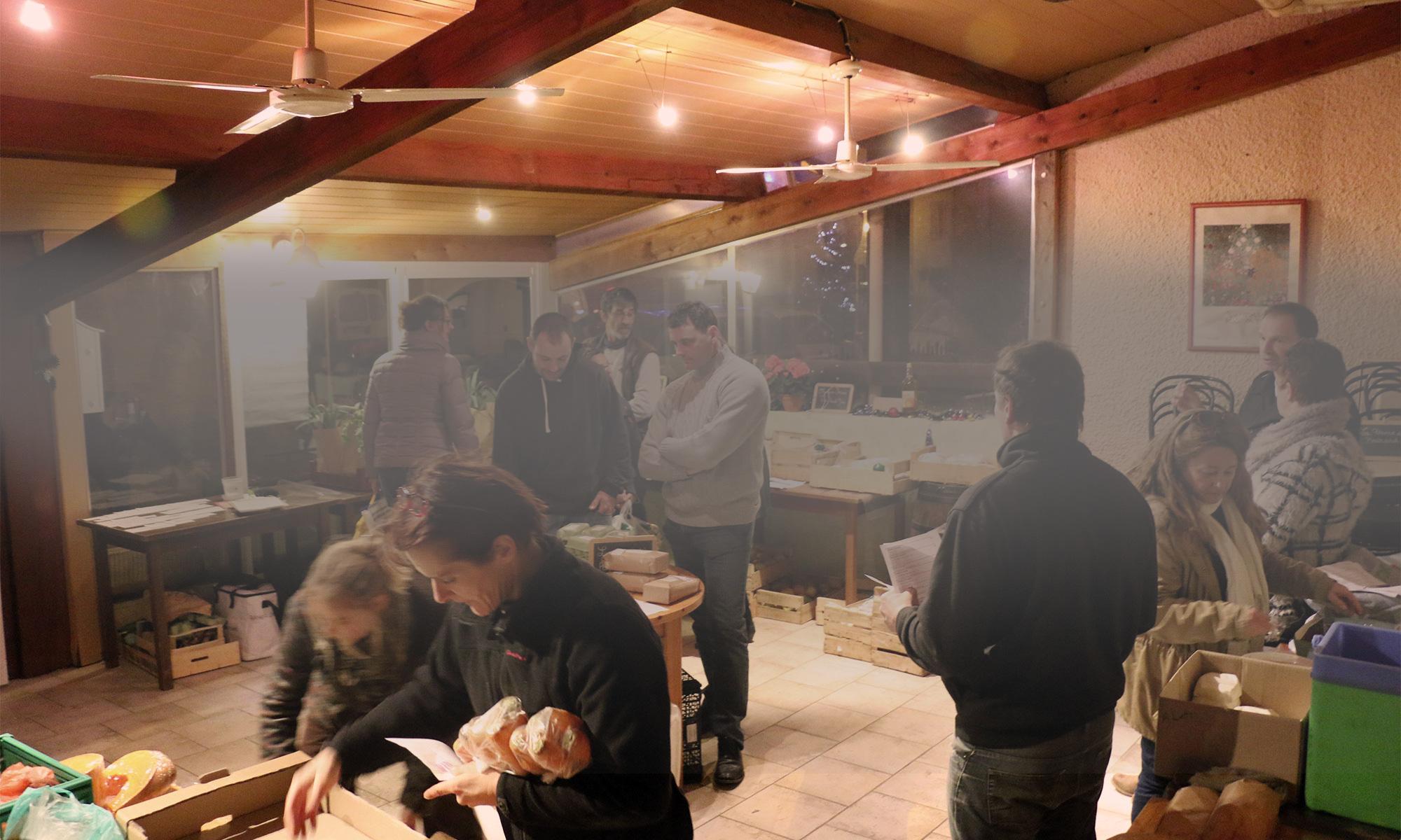 Distribution de la Ruche qui dit Oui ! à Flourens et Lavalette.