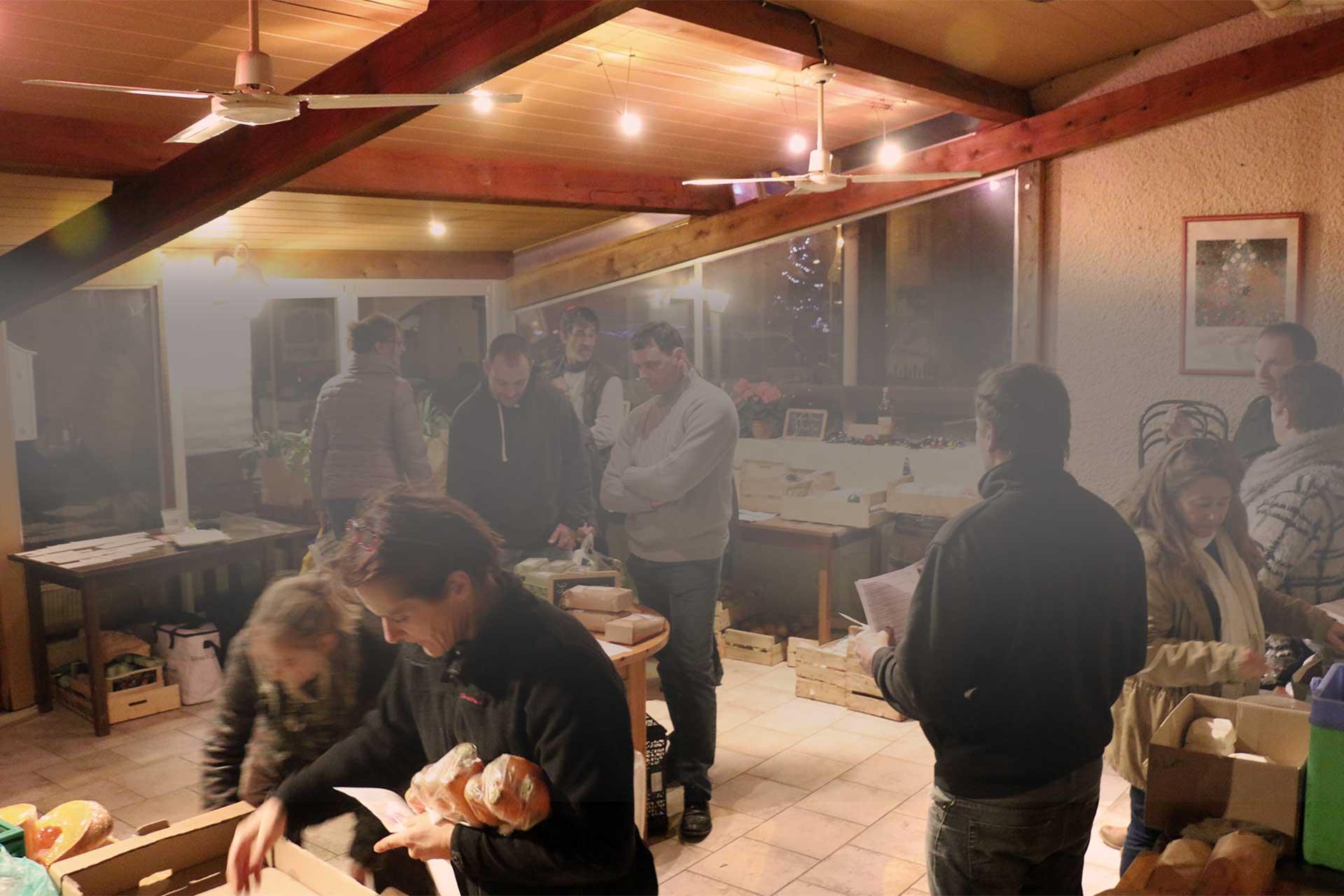 Distribution de la Ruche qui dit Oui ! à côté de Toulouse.