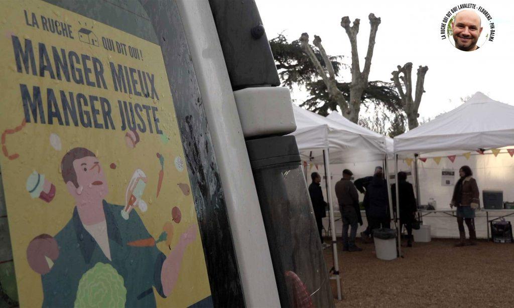 Distribution de la Ruche qui dit Oui! à Pin-Balma.